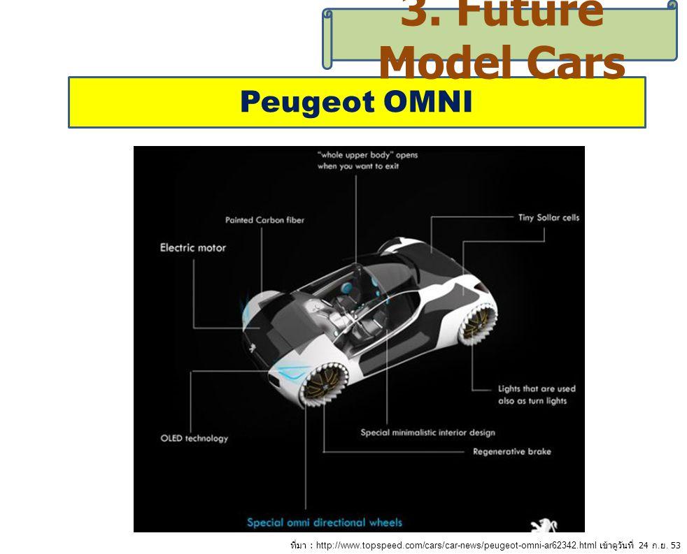 3. Future Model Cars Peugeot OMNI