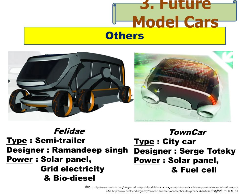 3. Future Model Cars Others TownCar Felidae Type : City car