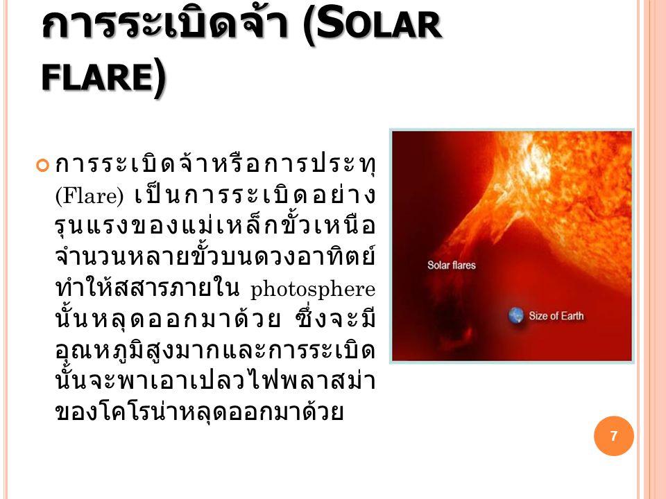 การระเบิดจ้า (Solar flare)