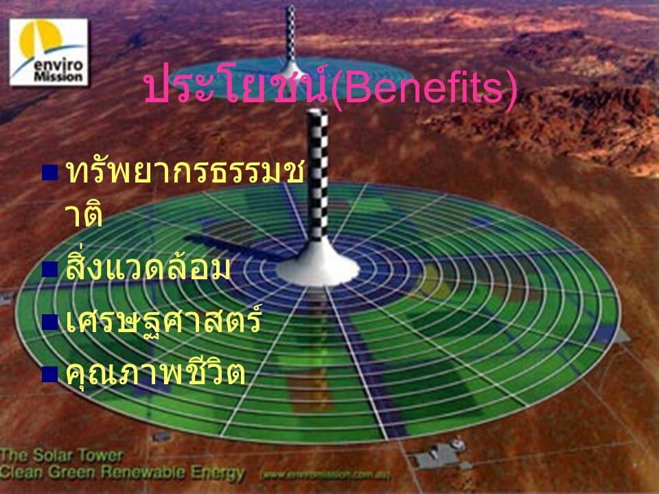 ประโยชน์(Benefits) ทรัพยากรธรรมชาติ สิ่งแวดล้อม เศรษฐศาสตร์