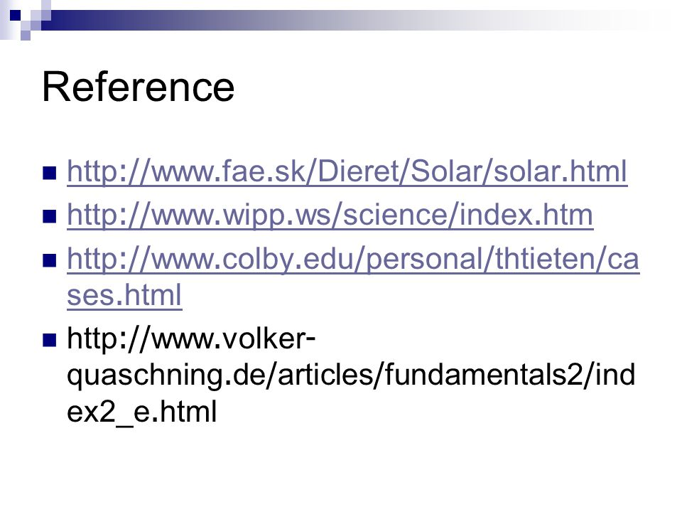 Reference http://www.fae.sk/Dieret/Solar/solar.html