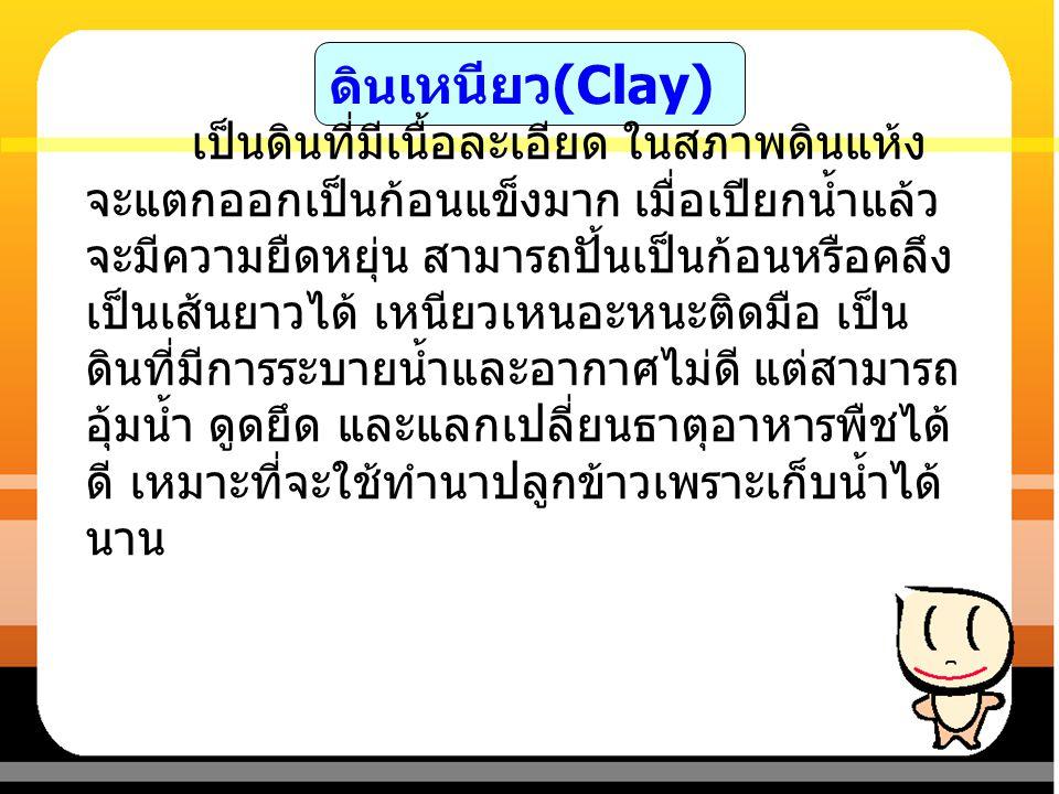 ดินเหนียว(Clay)