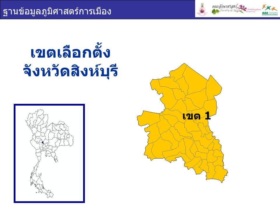 เขตเลือกตั้ง จังหวัดสิงห์บุรี