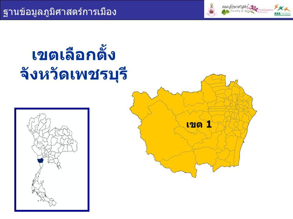 เขตเลือกตั้ง จังหวัดเพชรบุรี