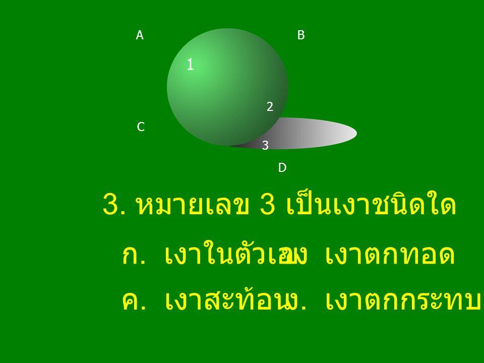 3. หมายเลข 3 เป็นเงาชนิดใด