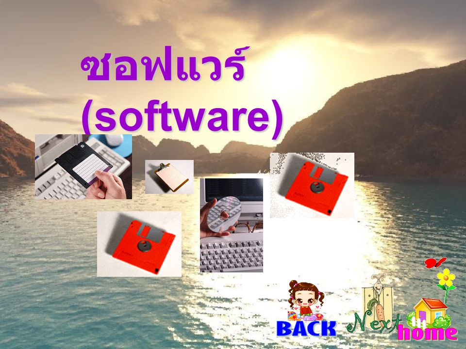 ซอฟแวร์ (software) Next BACK home