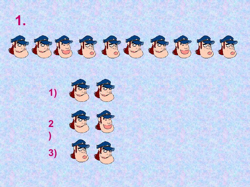 1. 1) 2) 3)