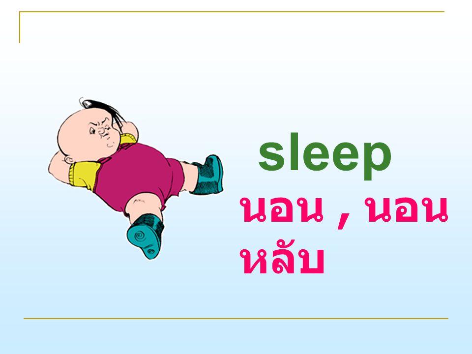 sleep นอน , นอนหลับ
