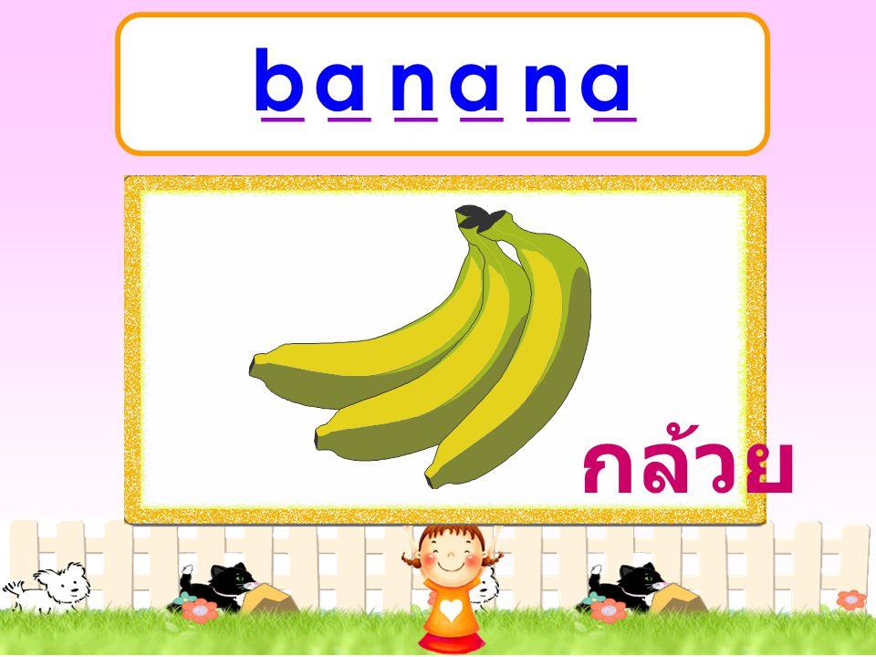 _ _ _ _ _ _ b a n a n a กล้วย
