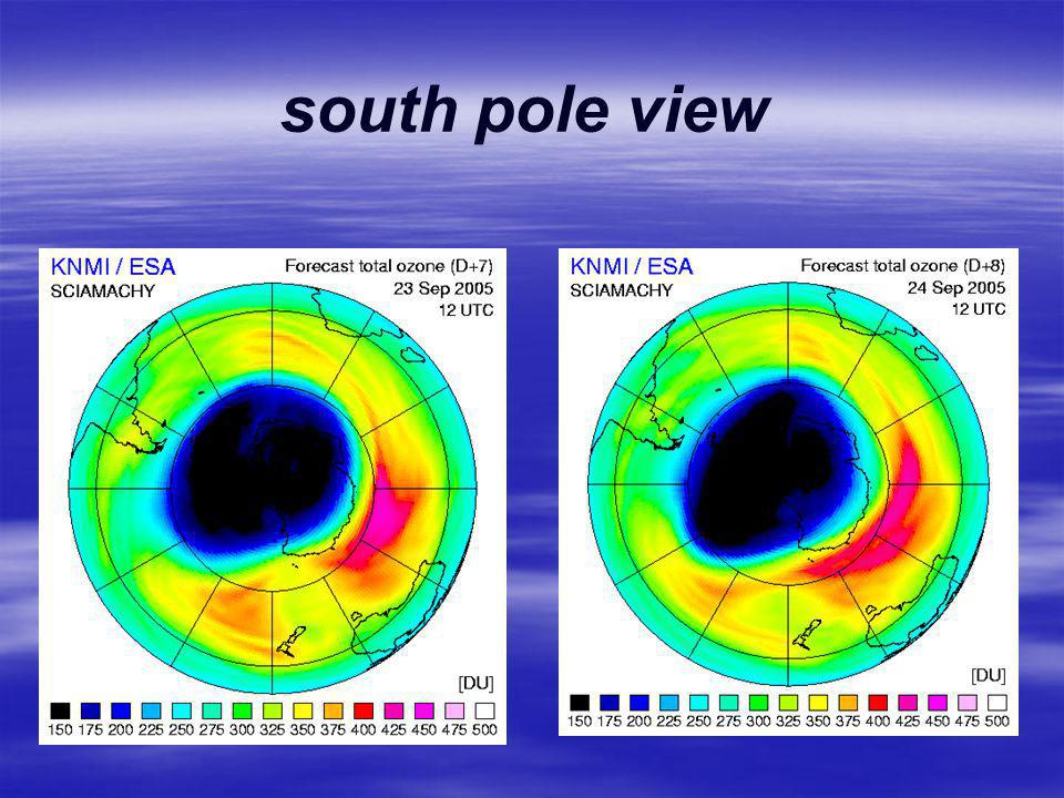 south pole view