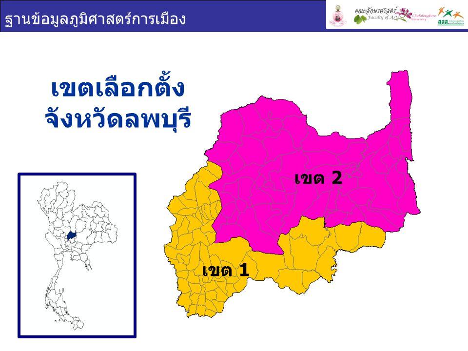 เขตเลือกตั้ง จังหวัดลพบุรี
