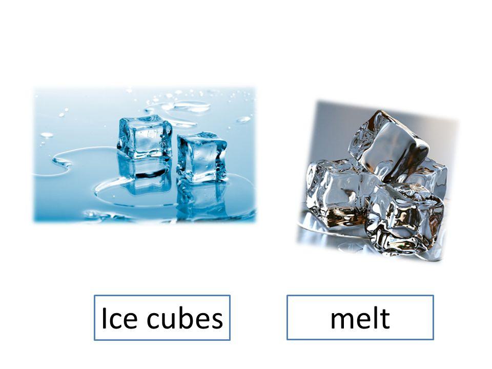 Ice cubes melt