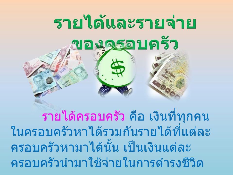 รายได้และรายจ่ายของครอบครัว