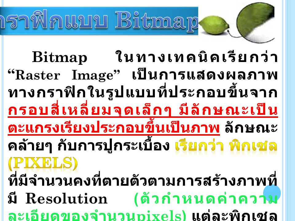 กราฟิกแบบ Bitmap