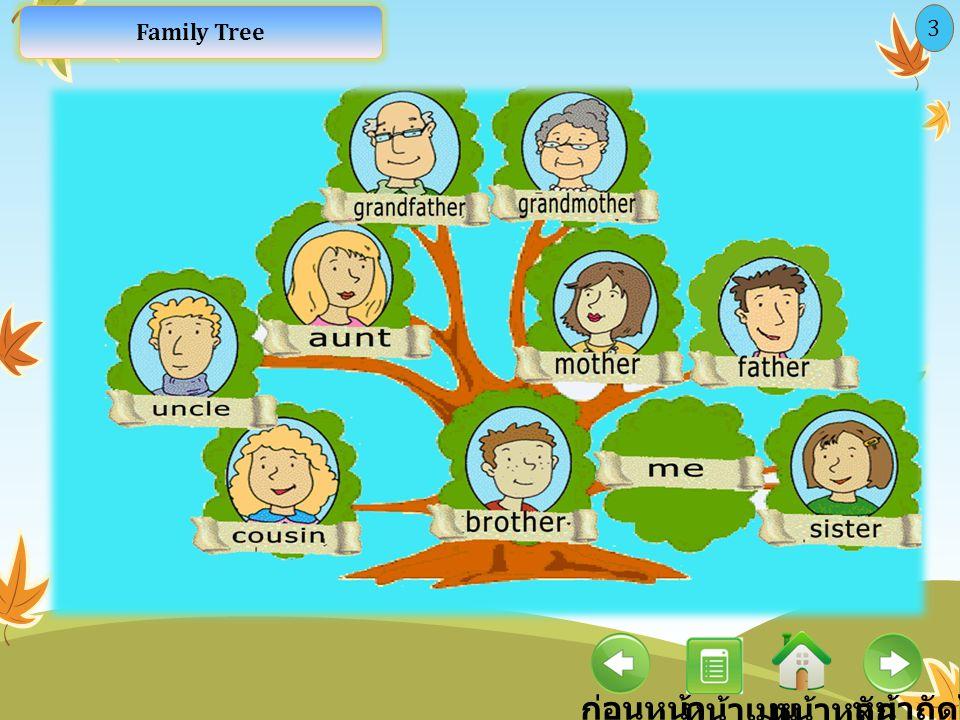 Family Tree 3 ก่อนหน้า หน้าเมนู หน้าหลัก หน้าถัดไป