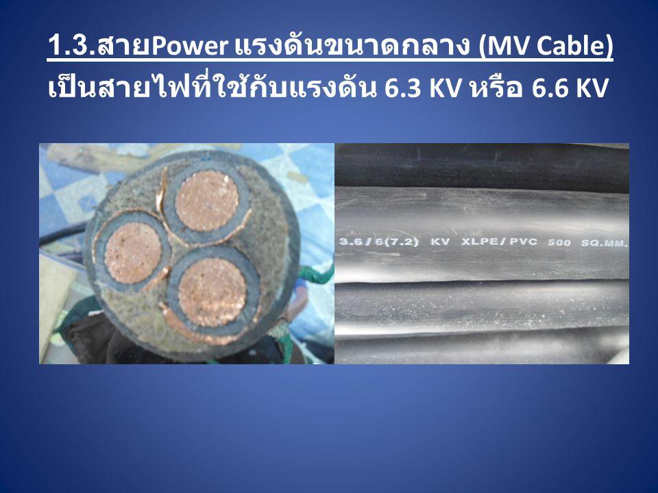 1.3.สายPower แรงดันขนาดกลาง (MV Cable)