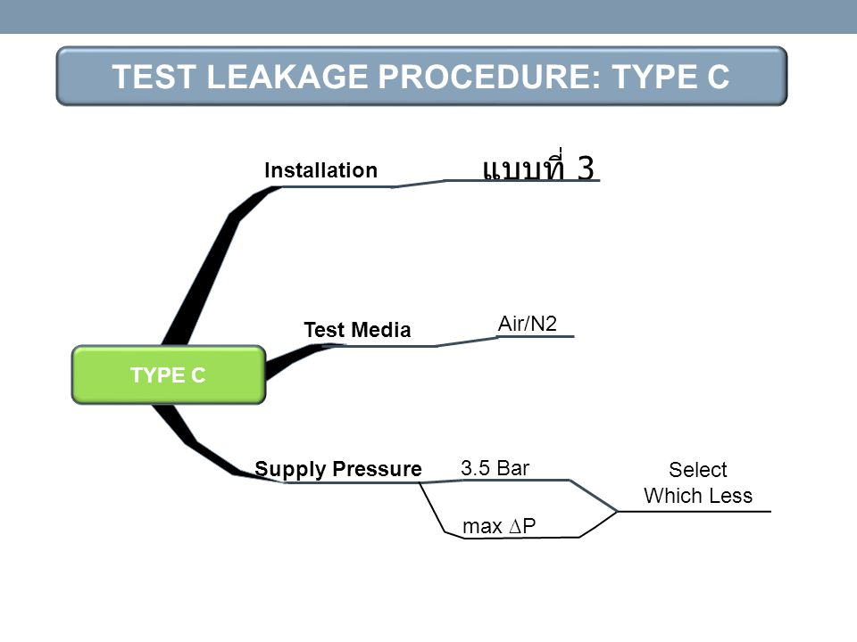 TEST LEAKAGE PROCEDURE: TYPE C