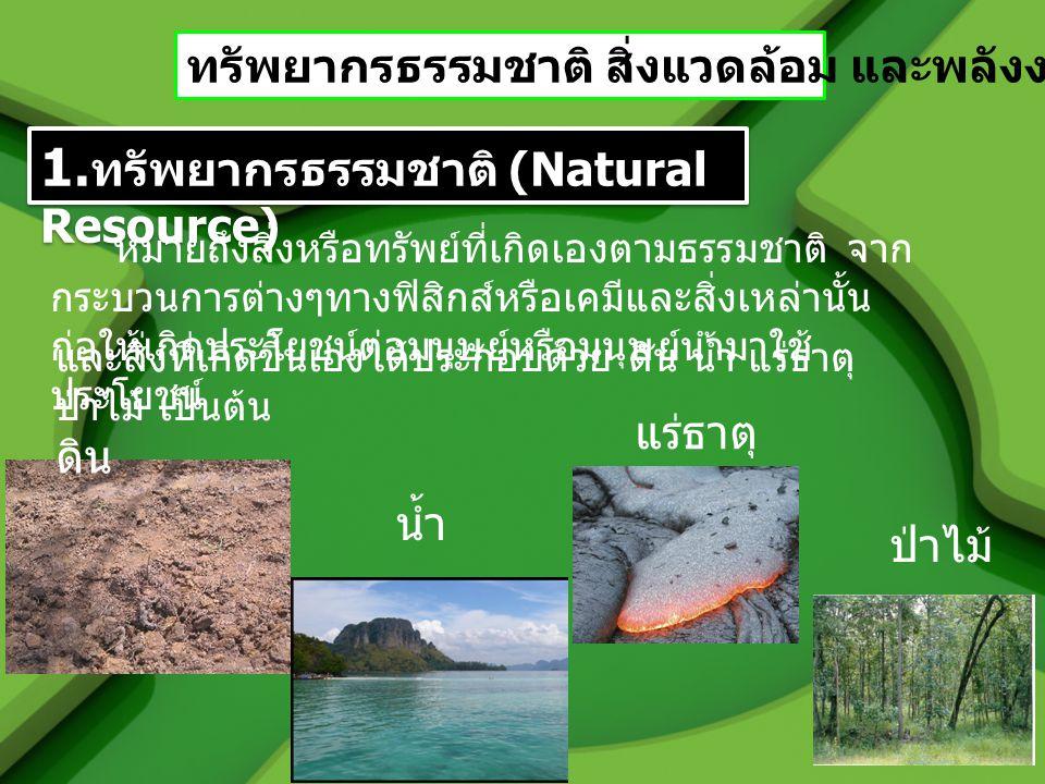 1.ทรัพยากรธรรมชาติ (Natural Resource)