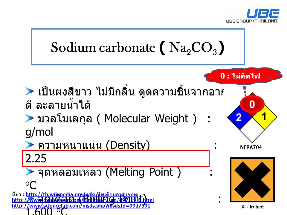 Sodium carbonate ( Na2CO3 )