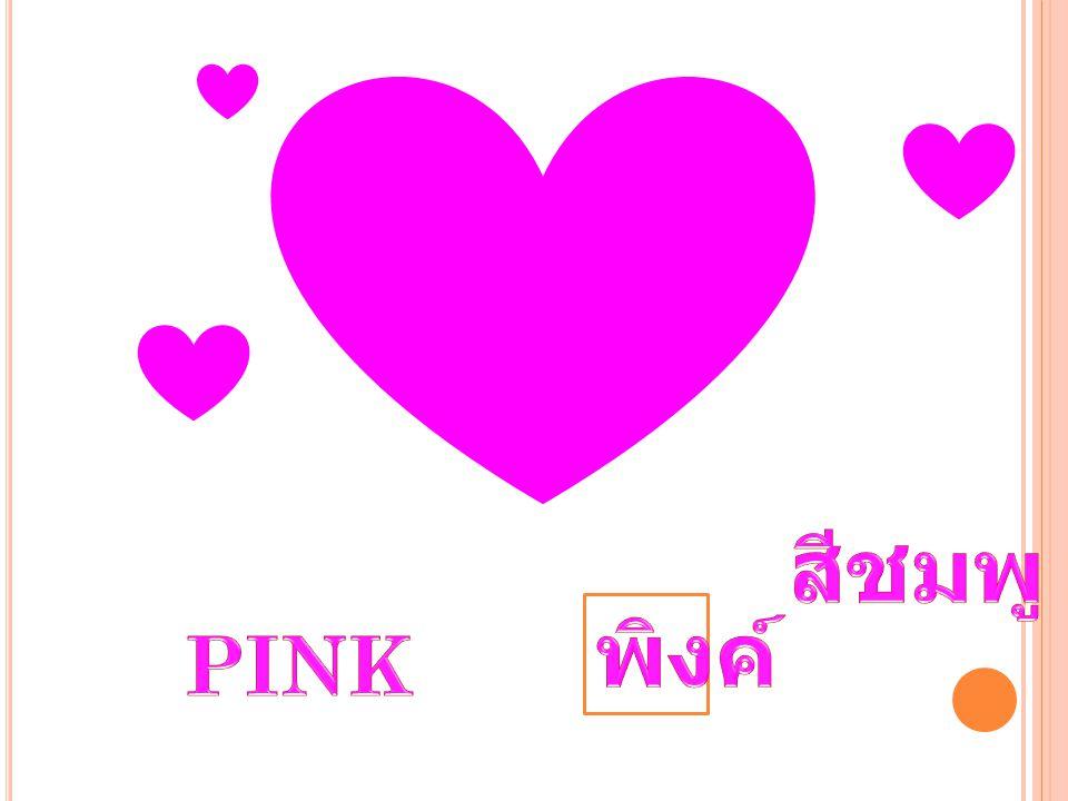 สีชมพู พิงค์ PINK