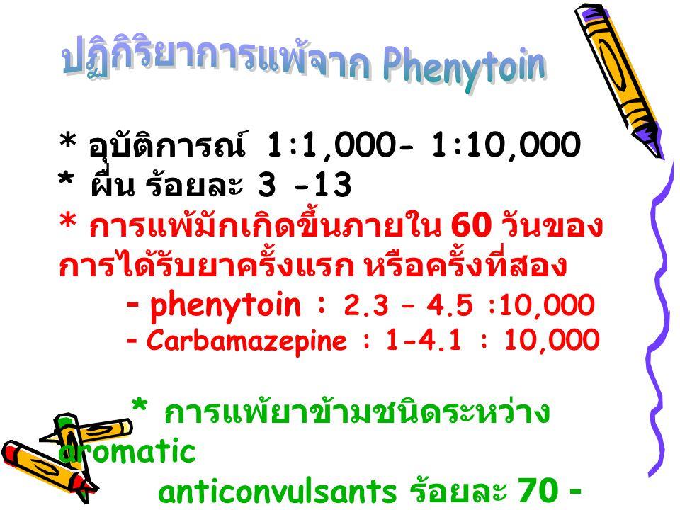 ปฏิกิริยาการแพ้จาก Phenytoin