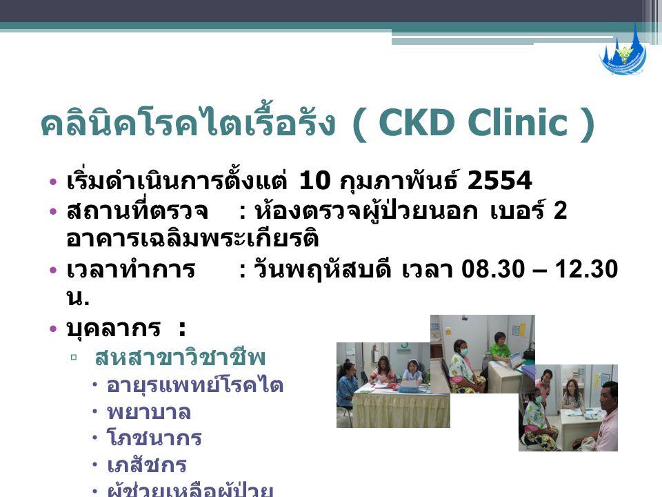 คลินิคโรคไตเรื้อรัง ( CKD Clinic )