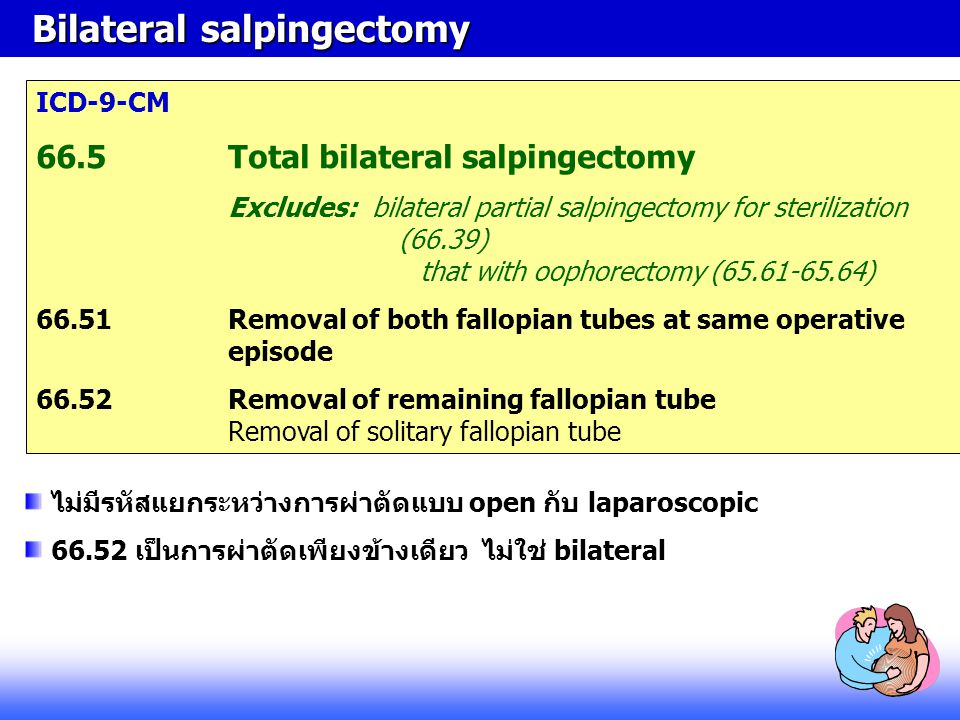 Bilateral salpingectomy