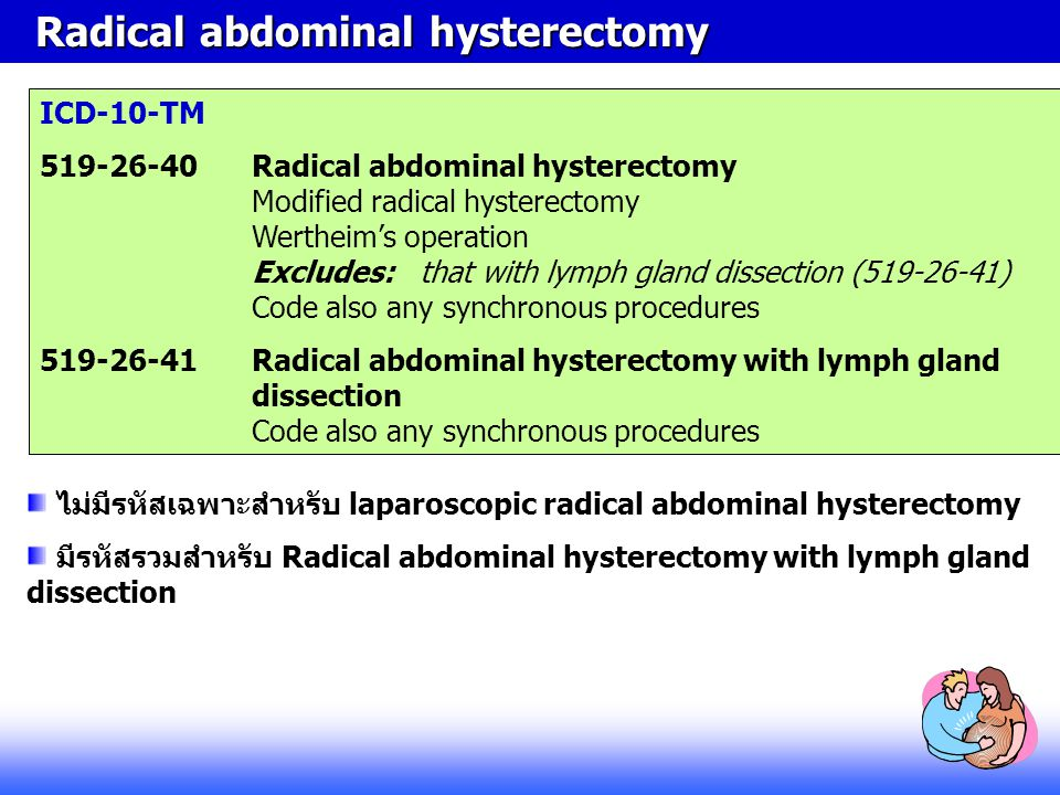 Radical abdominal hysterectomy