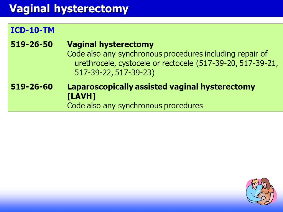 Vaginal hysterectomy ICD-10-TM