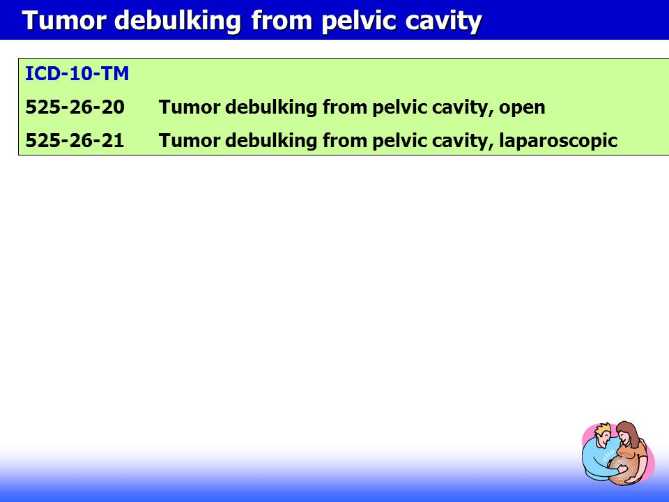 Tumor debulking from pelvic cavity