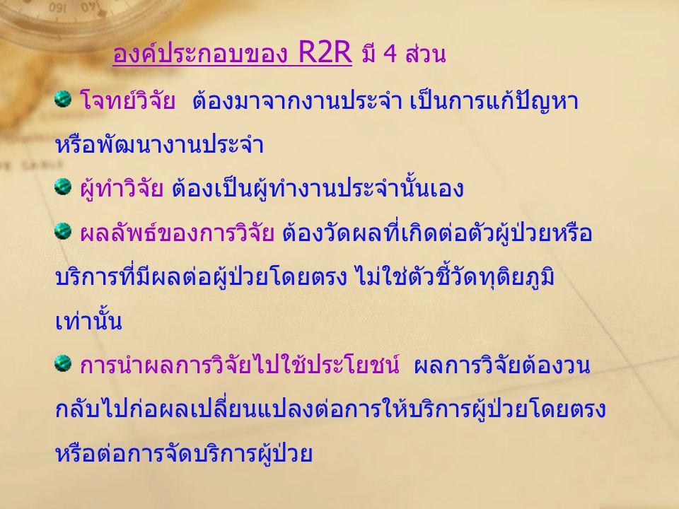 องค์ประกอบของ R2R มี 4 ส่วน