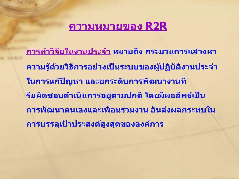 ความหมายของ R2R