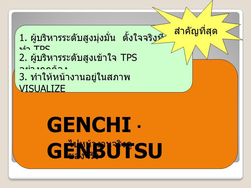 GENCHI・GENBUTSU สำคัญที่สุด