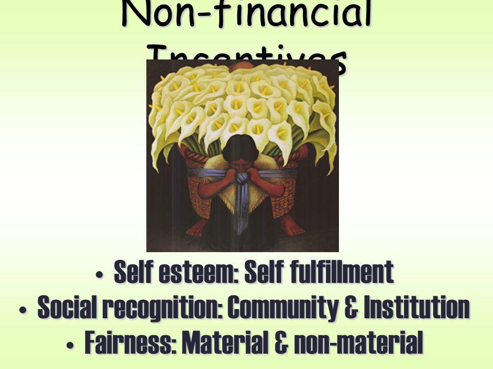 Non-financial Incentives