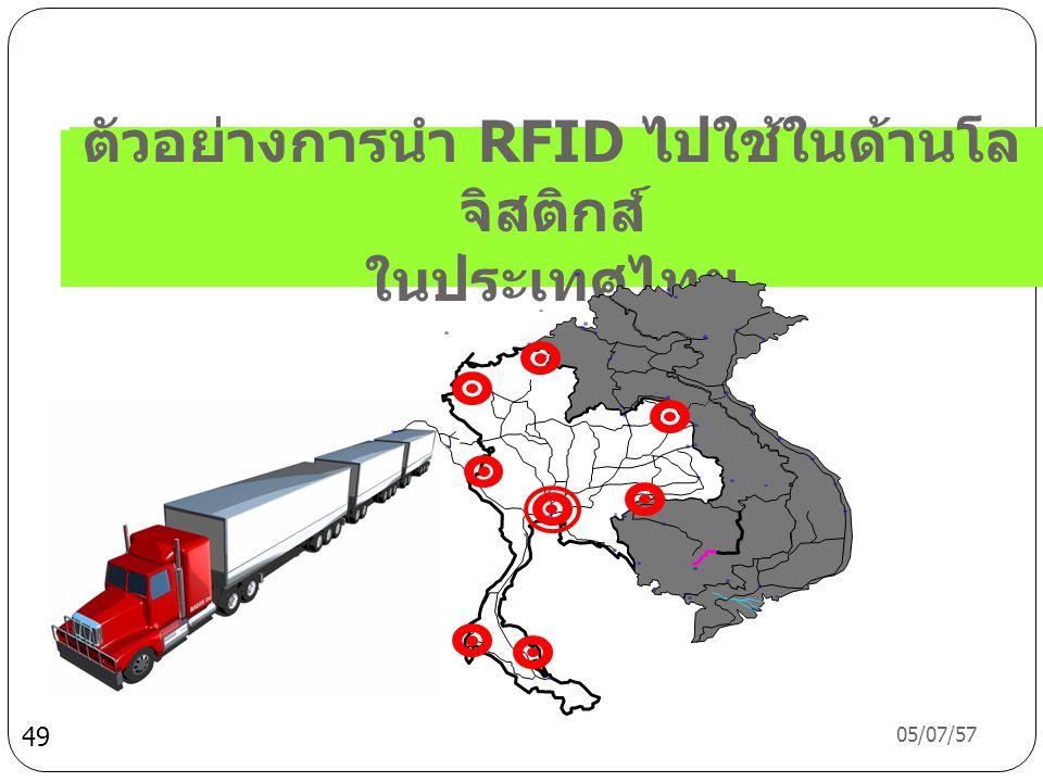 ตัวอย่างการนำ RFID ไปใช้ในด้านโลจิสติกส์ ในประเทศไทย