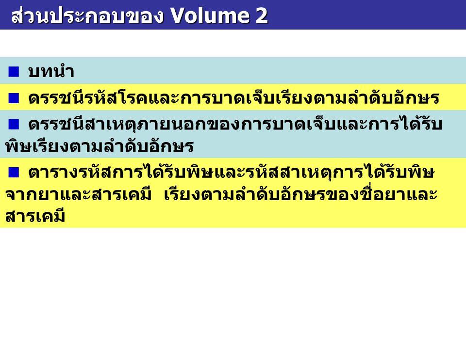 ส่วนประกอบของ Volume 2  บทนำ