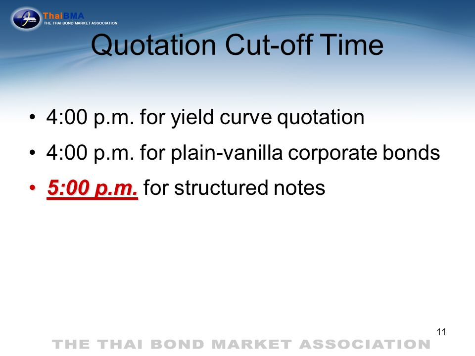 Quotation Cut-off Time