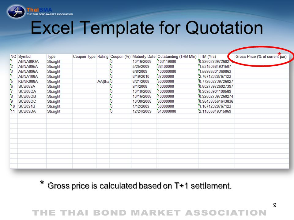 Excel Template for Quotation