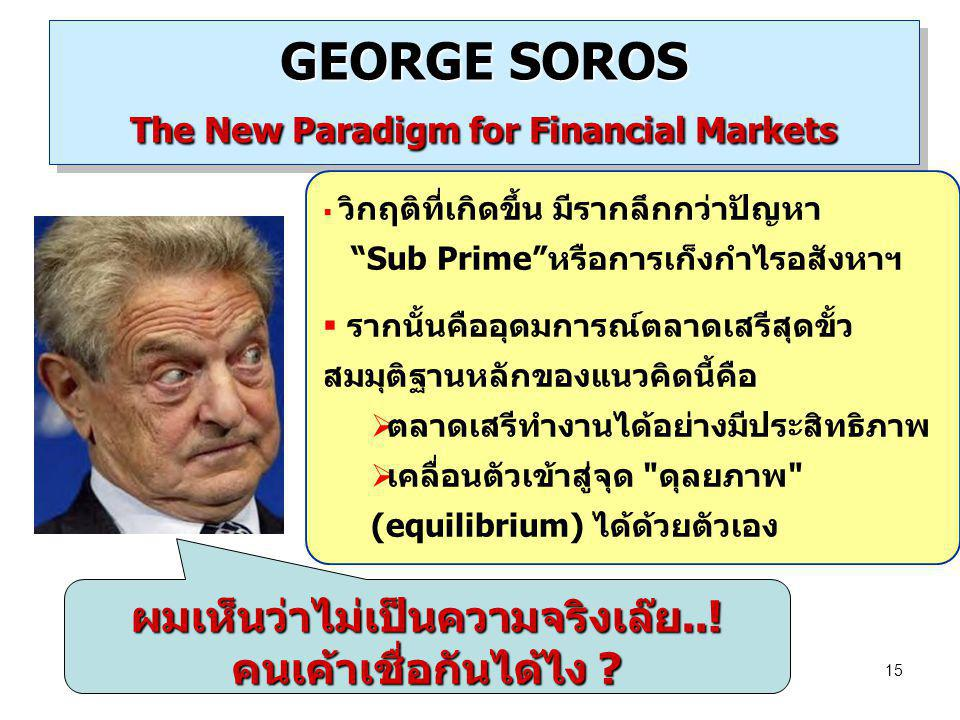 GEORGE SOROS The New Paradigm for Financial Markets