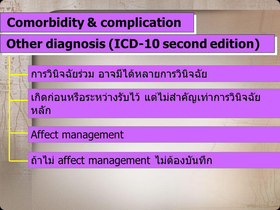 Comorbidity & complication