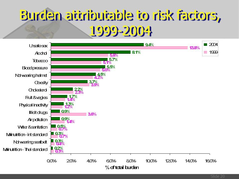 Burden attributable to risk factors, 1999-2004