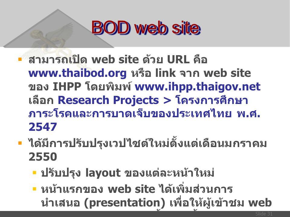 BOD web site