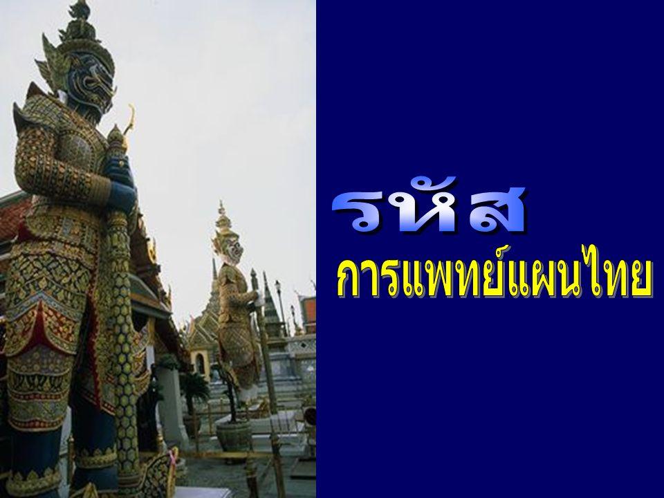รหัส การแพทย์แผนไทย