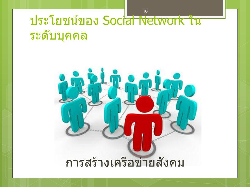 การสร้างเครือข่ายสังคม