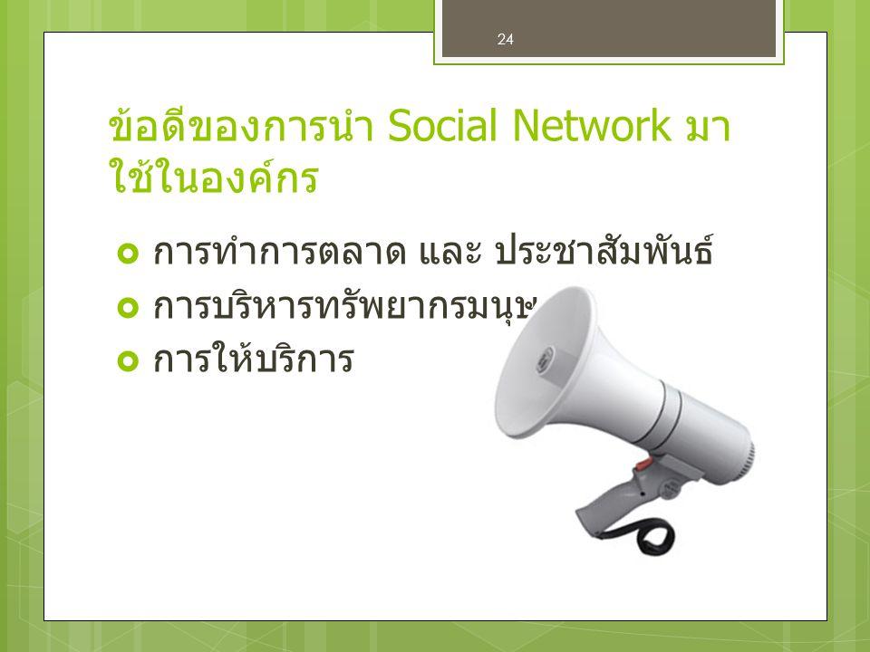 ข้อดีของการนำ Social Network มาใช้ในองค์กร