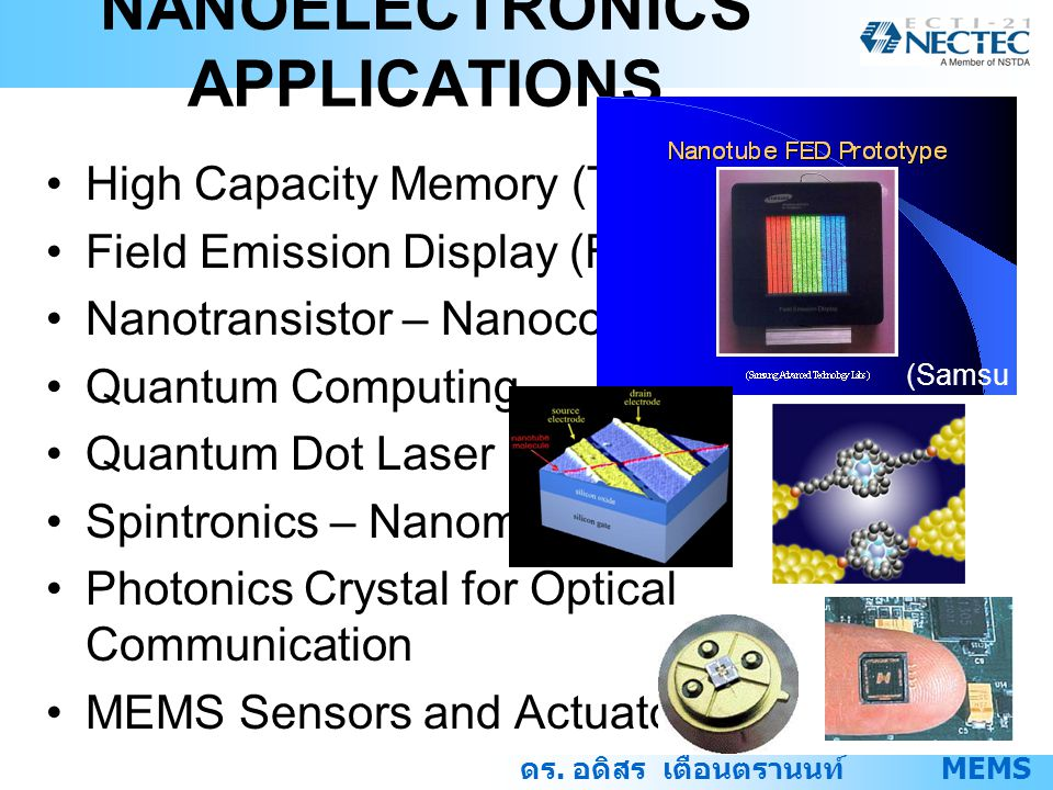 NANOELECTRONICS APPLICATIONS