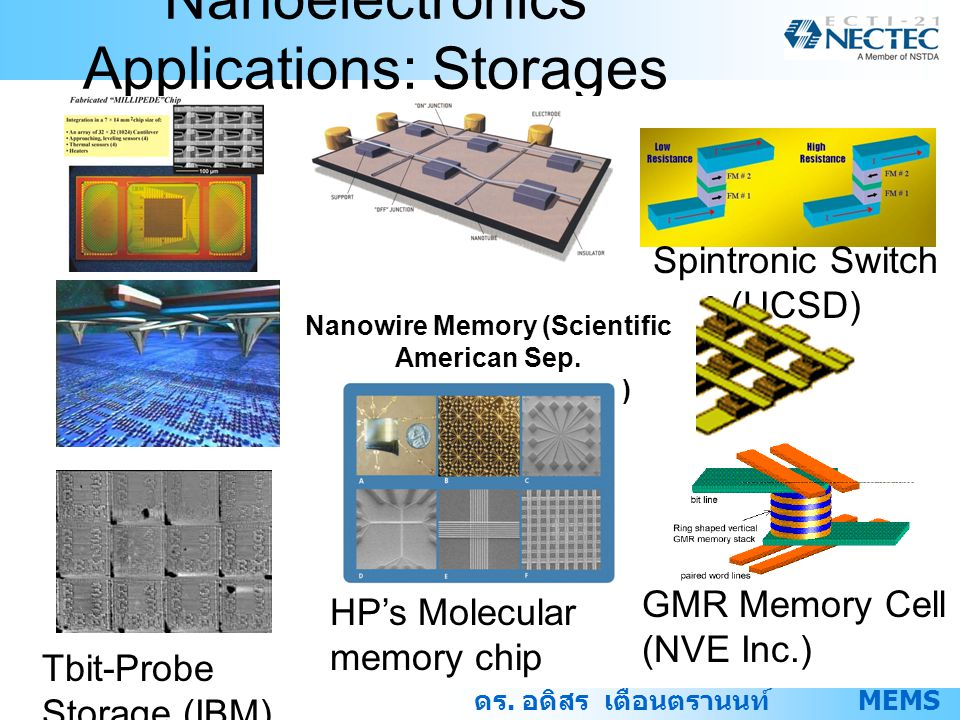 Nanoelectronics Applications: Storages
