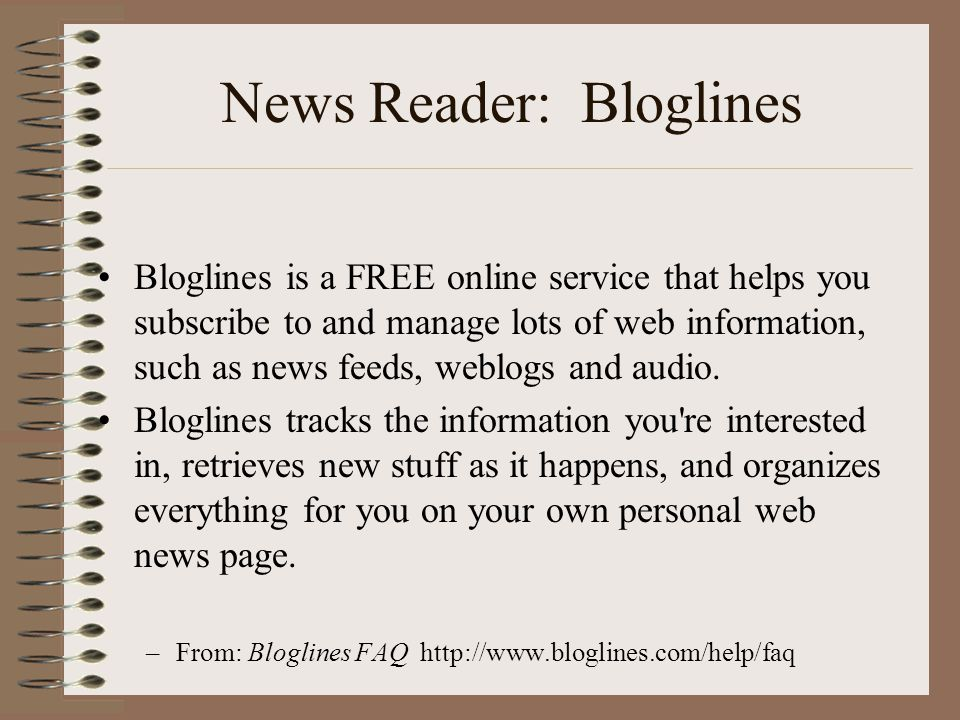 News Reader: Bloglines