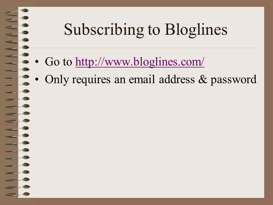 Subscribing to Bloglines