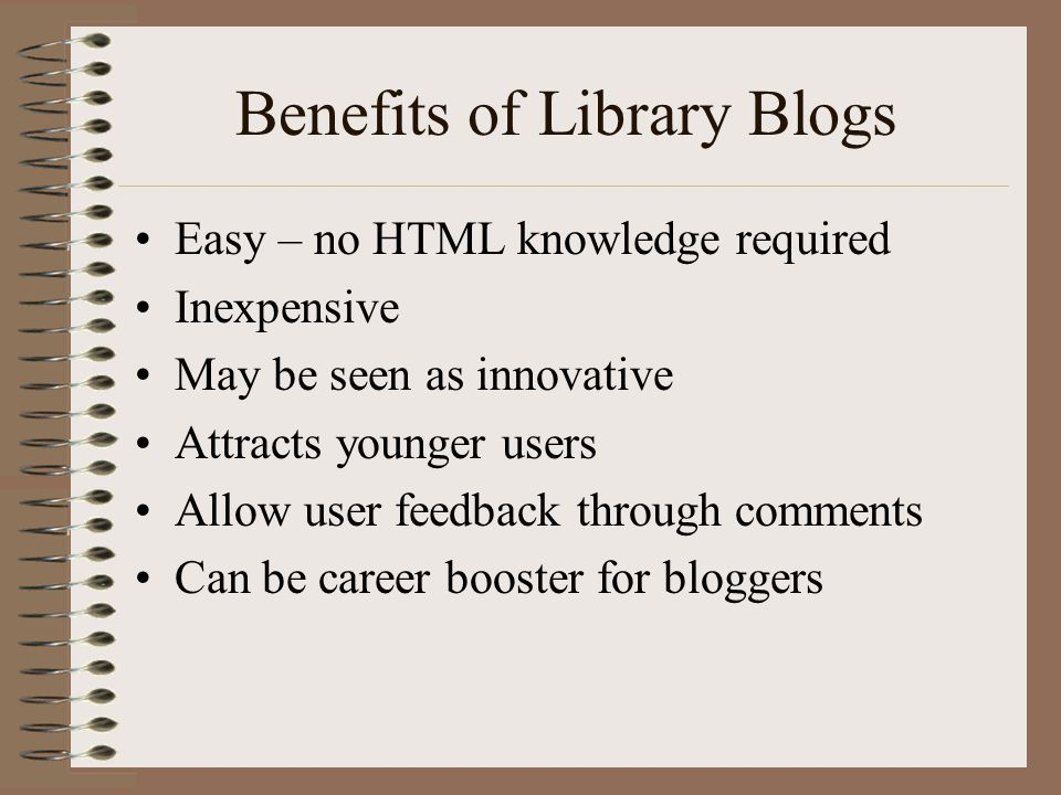 Benefits of Library Blogs